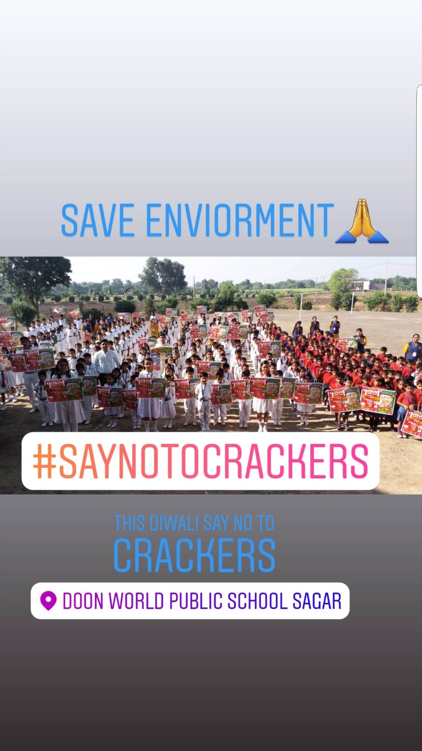 This Diwali say no to crackers